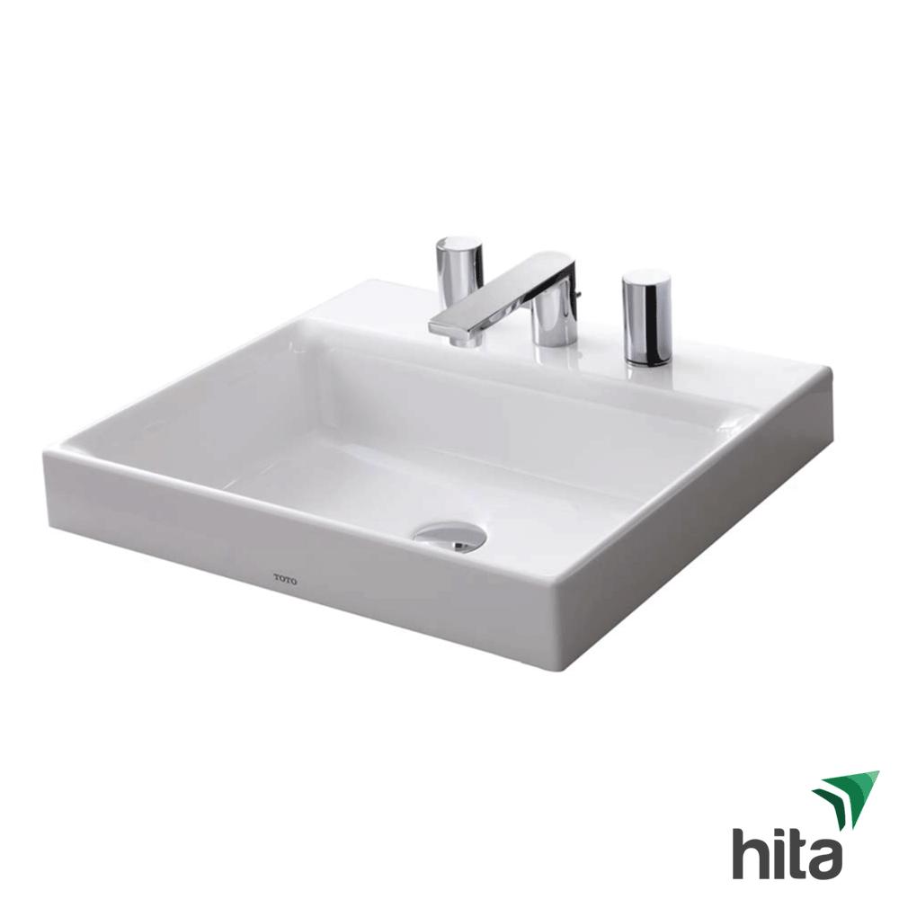 TSKT chậu rửa mặt lavabo đặt bàn 3 lỗ LT1615C