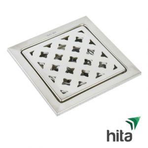 Phễu thoát sàn inox 304 HITA 150x150 Fi 90