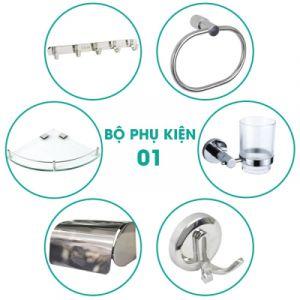 Bộ phụ kiện phòng tắm 6 món BPK001
