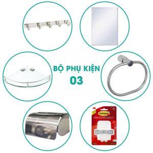 Bộ phụ kiện phòng tắm 6 món BPK003 giá tốt nhất tại Tphcm