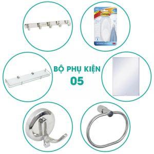 Bộ phụ kiện phòng tắm 6 món BPK05 giá cực rẻ, cực chất lượng