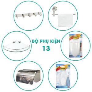 Bộ phụ kiện phòng tắm 6 món BPK013 giá rẻ cho nhà vệ sinh