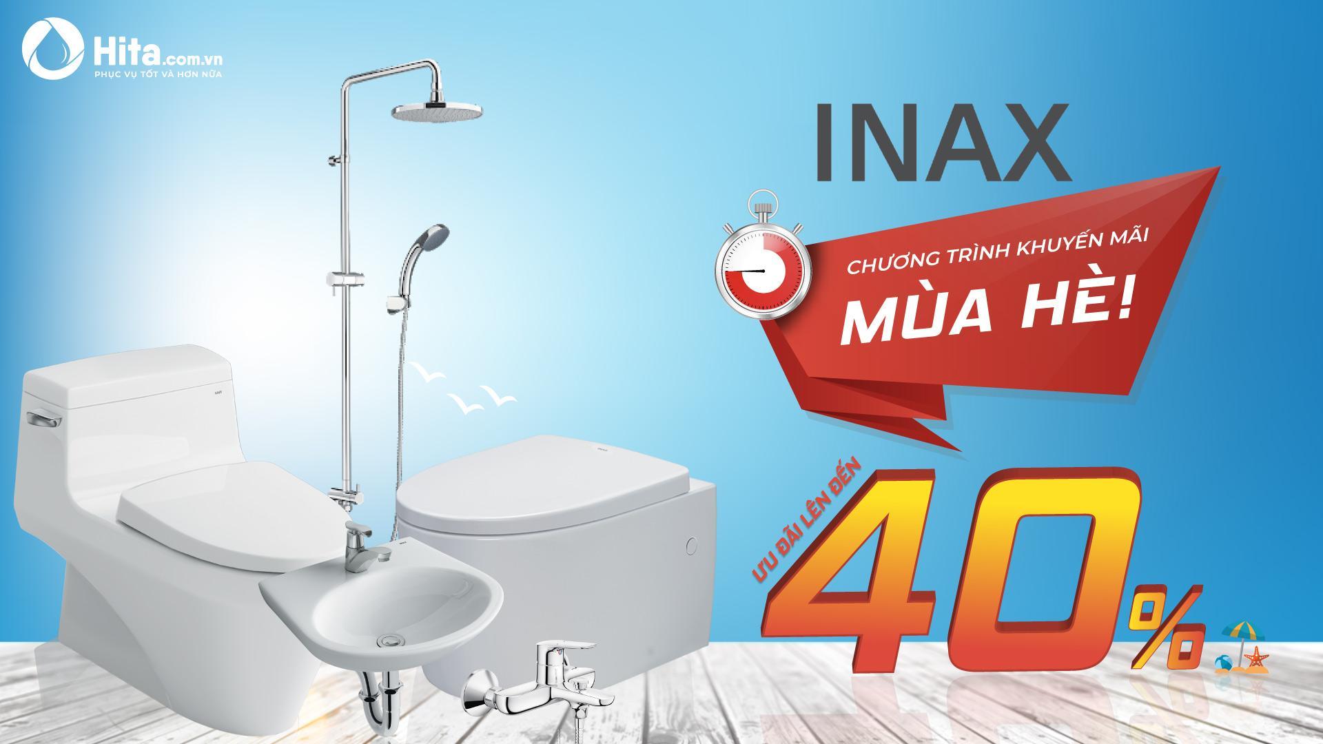Khuyến mãi INAX lên đến 40% - Chỉ trong mùa hè này!