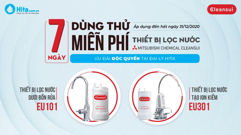 [Độc quyền] 7 ngày dùng thử miễn phí - Thiết bị lọc nước Mitsubishi Cleansui