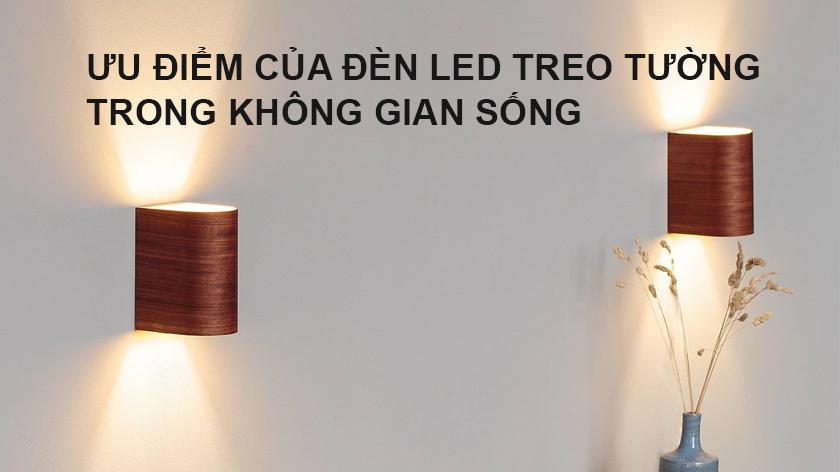 Ưu điểm của đèn led treo tường trong không gian sống