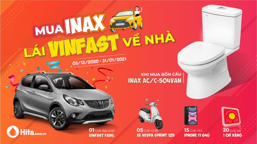 Mua Inax, lái Vinfast về nhà