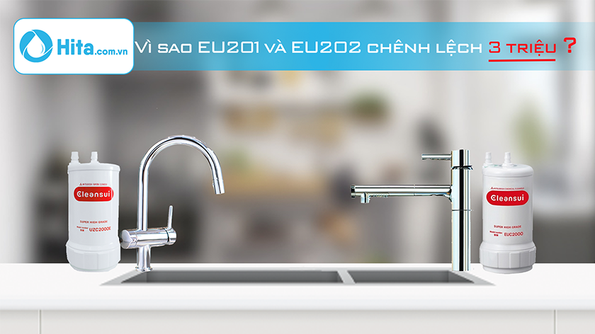 So sánh thiết bị lọc nước Mitsubishi Cleansui EU201 và EU202: Giống gì? Khác gì?
