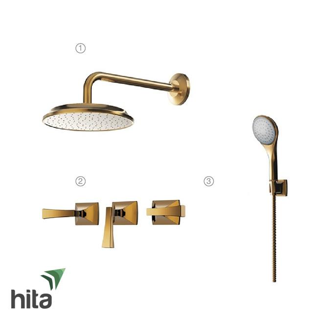 Bộ sen tắm âm tường Toto mạ vàng DBX120CAMR#PG/DB246S#PG/DB161CF#PG