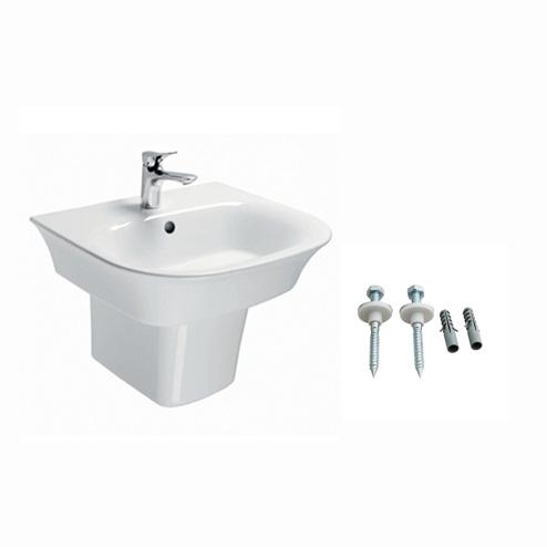 Chậu rửa lavabo chân ngắn Toto LW196K/LW196HFK/TX801LN