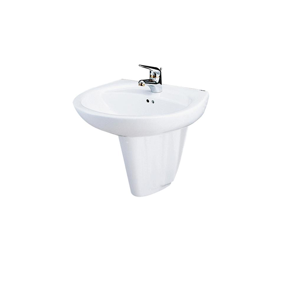 Chậu rửa Lavabo treo tường CAESAR chân lửng L2220+P2436