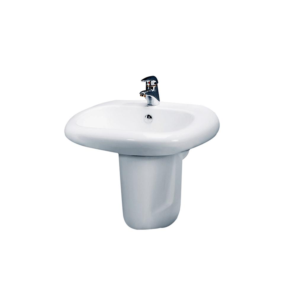 Chậu rửa mặt Lavabo CAESAR chân lửng L2560+P2441